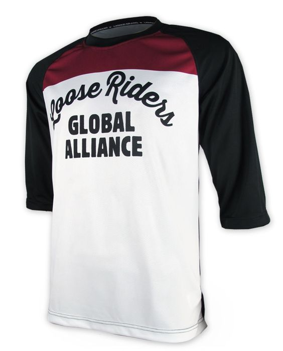 Loose Riders CLASSIC WHITE Herren Jerseys 3/4 Ärmel