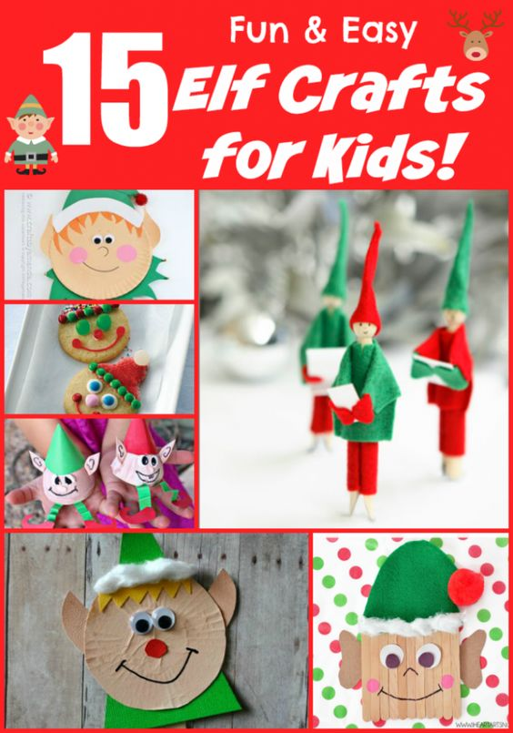 Easy elf crafts for kids of all ages perfect for home and classroom