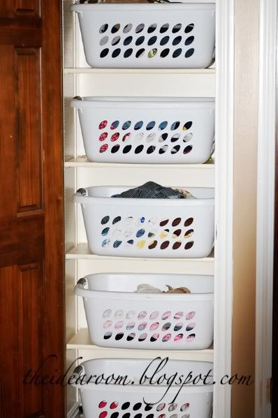 laundry shelf for each person.