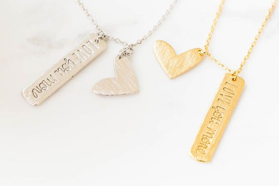 Heart&Lettering Necklace-fz-$9.90
