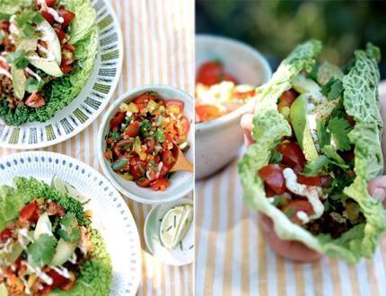 Raw tacos!!!! yum!