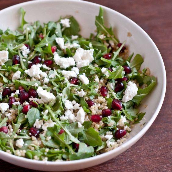 Pomegranate salad, Goat cheese and Pomegranates on Pinterest