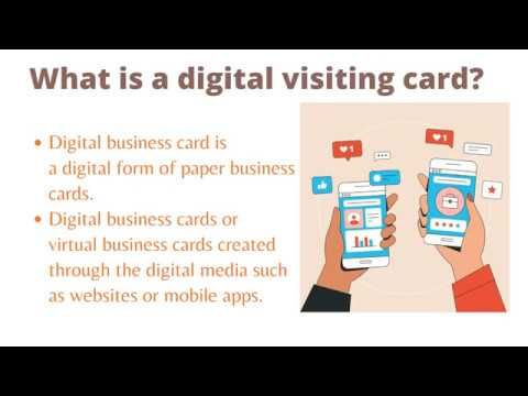 How To Make An Electronic Business Card In 2020 Electronic Business Digital Business Card Business Card App