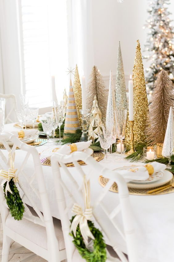 Modern Center Tables For Luxury Living Rooms Gold Christmas Decorations Glam Christmas Decor White Christmas Decor