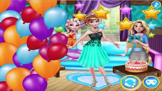 Disney Frozen games New Fashion Model Stars and Birthday Celebration