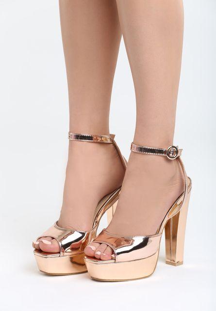 Sandale Cu Platforma Priya Bej Sampanie Heels Crazy Shoes Shoes