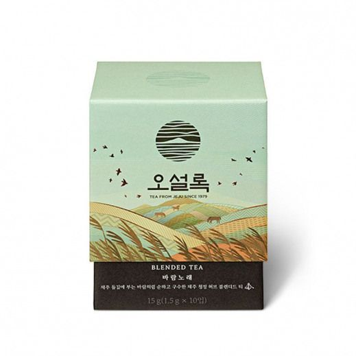 Osulloc Song Of Wind 10 Teabags Green Tea With Pure Nourishing Jeju Herb Osulloc Healthyfoo Tea Packaging Design Luxury Packaging Design Luxury Packaging