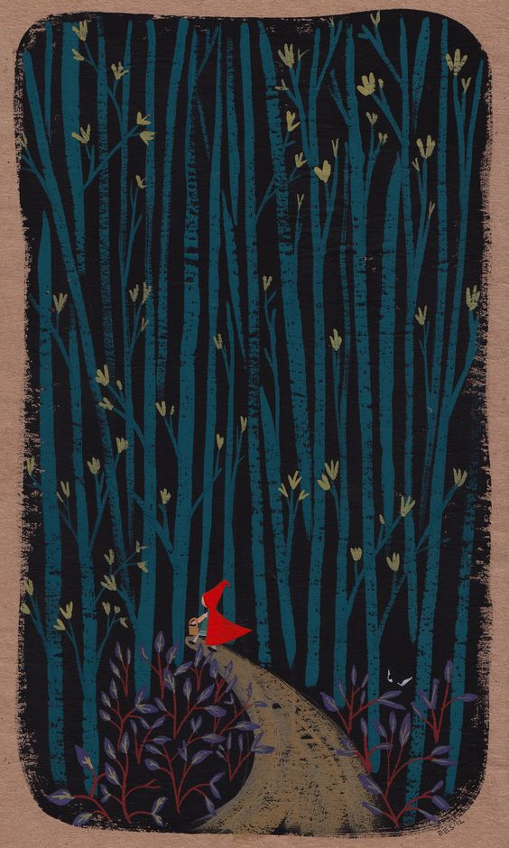 Little Red Riding hood goes deep into the woods, Ellen Surrey