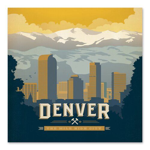 Americanflat Denver By Anderson Design Group Graphic Art In 2021 City Wall Art Kids Art Wall Frames Anderson Design Group
