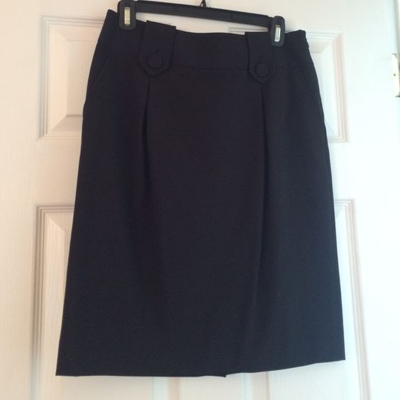 Style & Co black knee length skirt Pockets/ slit up back. Worn once. Adorable Style & Co Skirts