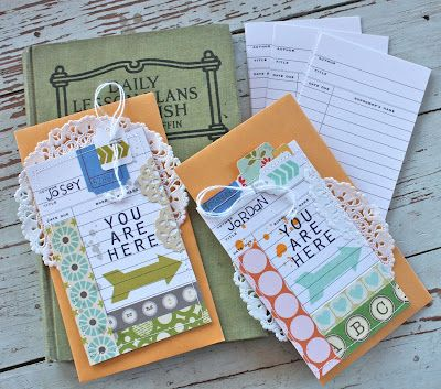 Michelle Wooderson - love the idea of using a library card to make a book mark.