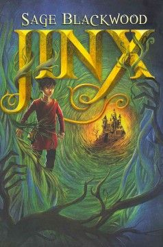 """JINX / Sage Blackwood.  Young orphan Jinx is abandoned by his stepfather in the mysterious  and dangerous Urwald forest where """"you grow up fast or  not at all,"""" and is rescued by Simon Magus, a powerful wizard.  Readers won't be surprised that Jinx has powers of his own—he  can see emotions and discovers he can communicate with trees  in the forest.  - March, 2013, Bayviews"""