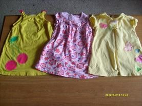 QTY LOT OF 3 SUMMER DRESSES SIZE 18MOS     Price: $7.00