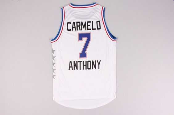 e591749a7ff ... White Jersey Knicks 7 Carmelo Anthony Blue 2015-2016 Christmas Day  Stitched NBA Jersey Pinterest Blue christmas Youth New York ...