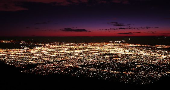 Albuquerque at night is just one hell of a view.