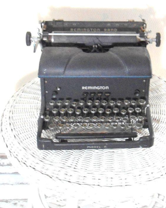 Remington typewriter-  antique furniture- 1920s -