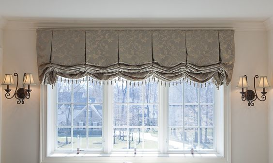 Box Pleated Balloon Shades Sheffield Roman Shades