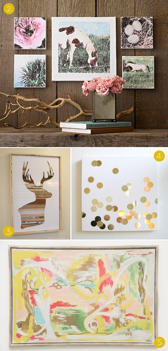 #DIY wall art ideas // love that reclaimed wood and bead board deer!