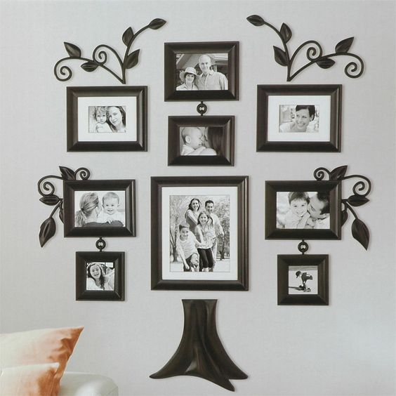 Family Tree Wall Frame Set Picture Frames Briscoes