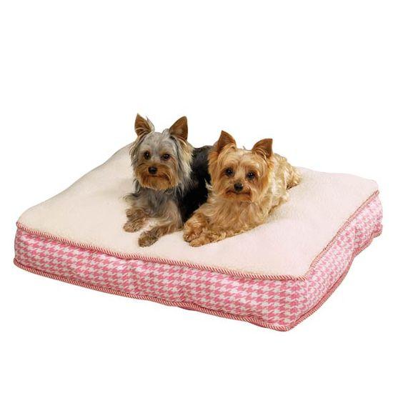 Hundekissen Houndstooth pink!