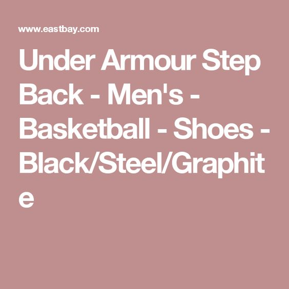 Under Armour Step Back - Men's - Basketball - Shoes - Black/Steel/Graphite