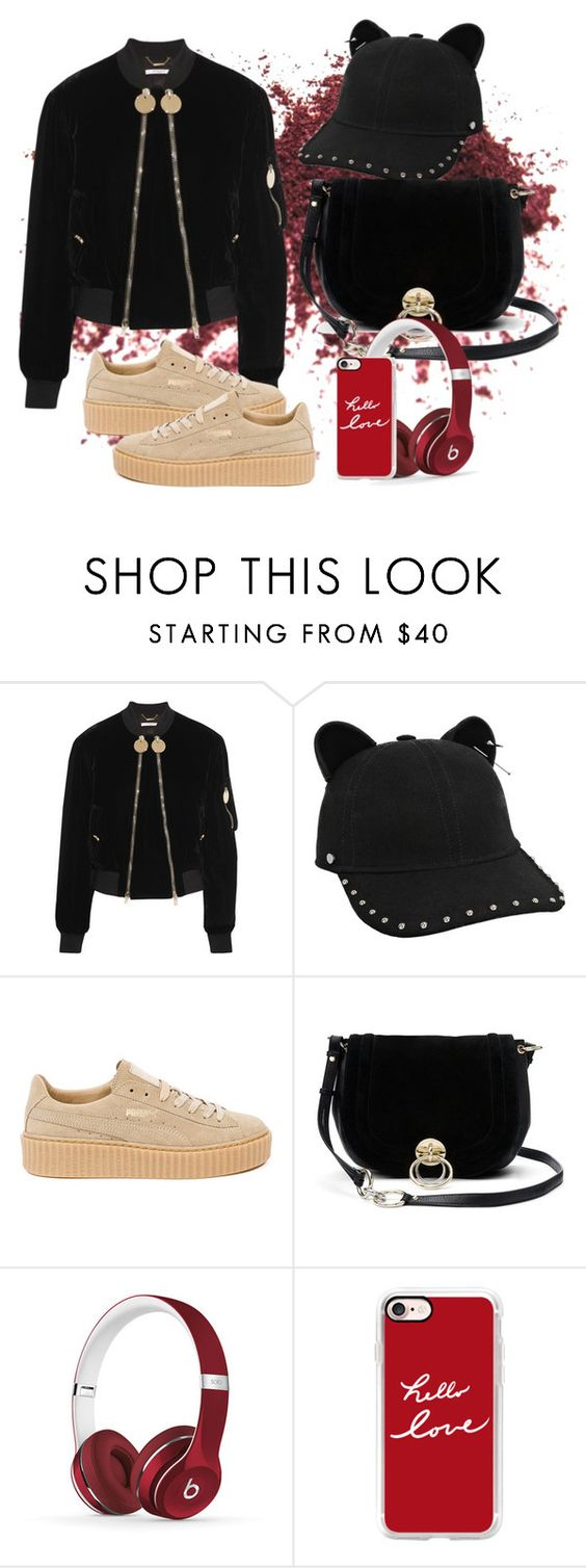 """Untitled #733"" by brandi-gurrola on Polyvore featuring Givenchy, Karl Lagerfeld, Puma, Diane Von Furstenberg, Beats by Dr. Dre and Casetify"