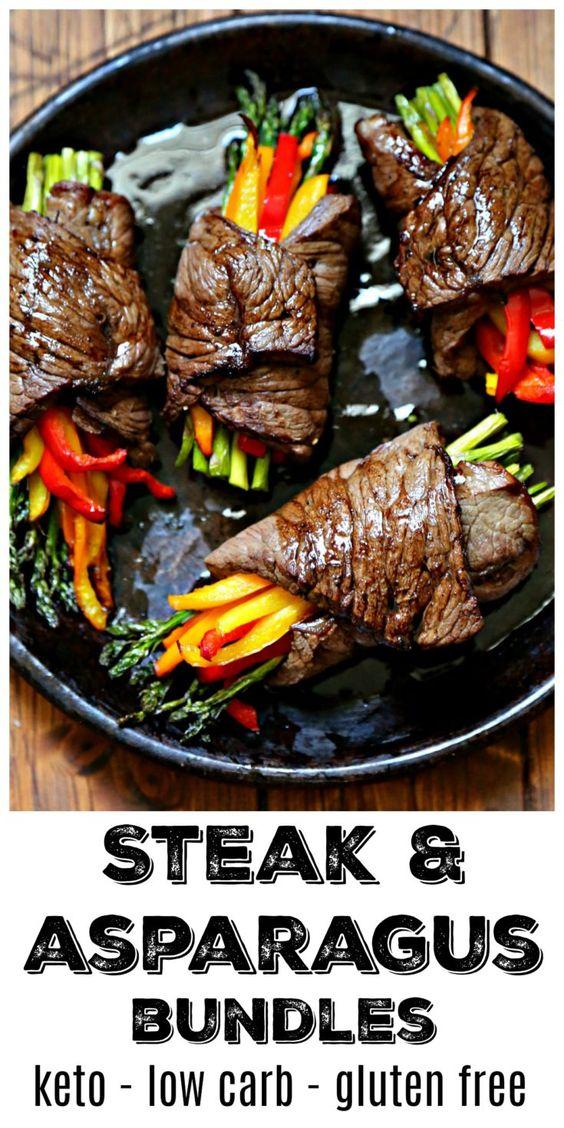 Air Fried Steak and Asparagus Bundles