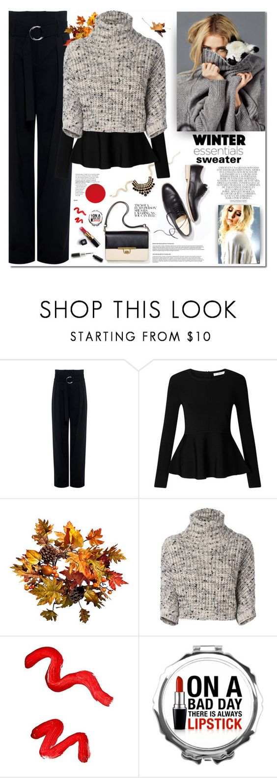 """""""SWEATER WEATHER !"""" by firstclass1 ❤ liked on Polyvore featuring IRO, John Lewis, Improvements, Brunello Cucinelli, Whiteley, Chanel, Topshop, Sweater, fallfashion and falltrend"""