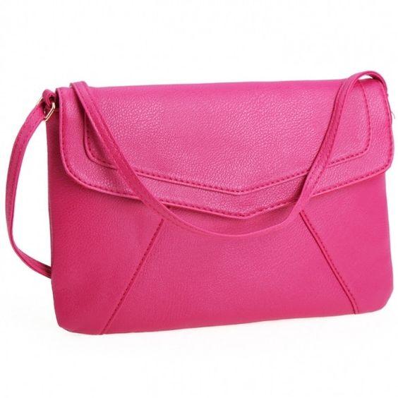 New Women Lady Envelope Clutch Shoulder Evening Handbag Tote Bag Purse 5 Colors