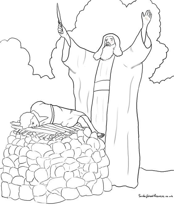 abraham and isaac coloring pages for kids | Abraham Offers Isaac Coloring Page | Patriarchs ...