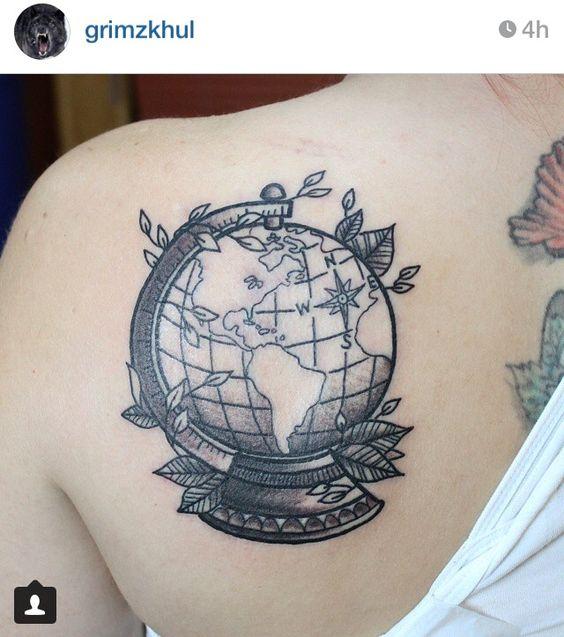 globus tattoos globen and tattoos on pinterest. Black Bedroom Furniture Sets. Home Design Ideas