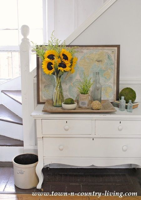 Late Summer Vignette with Sunny Sunflowers