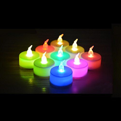 24 Pack Led Tea Lights Candles 7 Color Changing Flameless Tealight