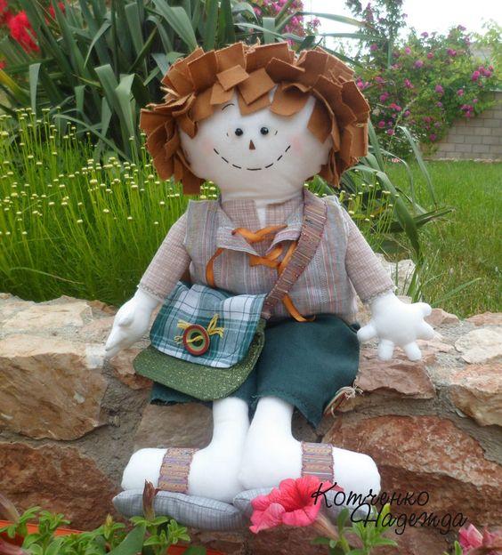 Том Проделин. Текстильная кукла.