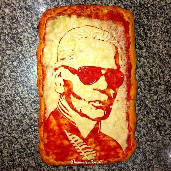Pizza Art, Karl Lagerfeld