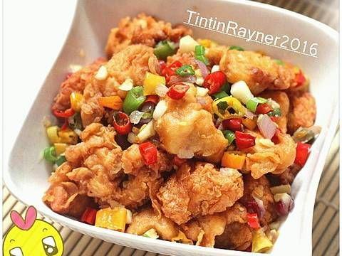 Resep Ayam Cabai Garam Mudah Pedess Asin Endess Oleh Tintin Rayner Resep Resep Ayam Resep Masakan Resep
