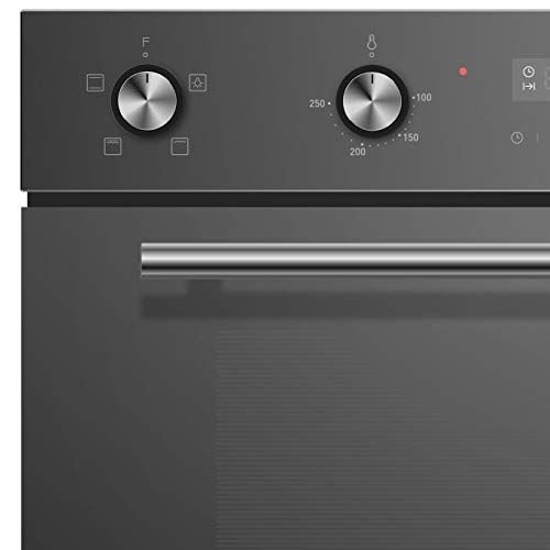 Cookology Cdo900bk 60cm Black Glass Built In Electric Double Oven