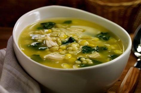 Receta de Sopa de Espinacas con Pollo
