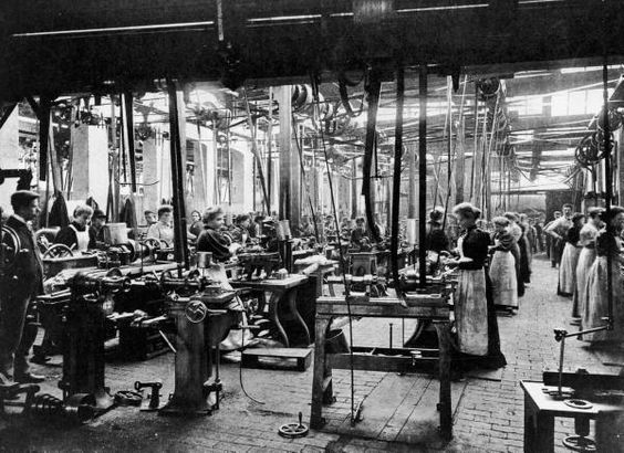 Women Workers In A Bicycle Factory 1900 Conventry Uk