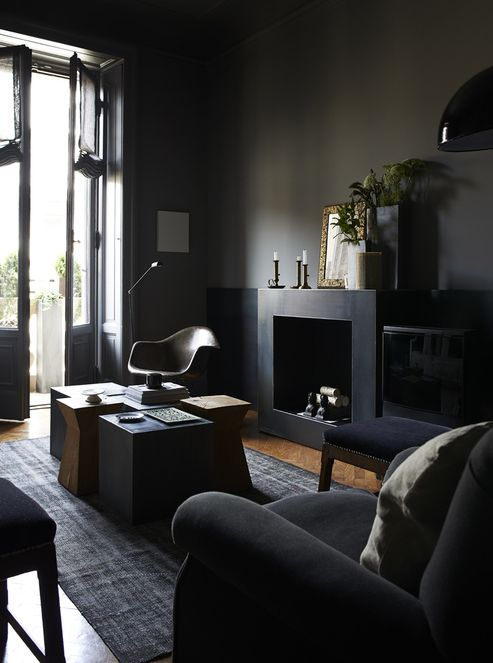 modern black living room in the via cocolapinedesign live 16420