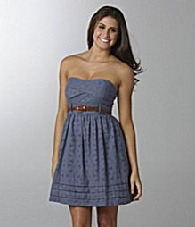 This is a really cute simple dress, and the *also* simple cute brown belt really makes the dress.