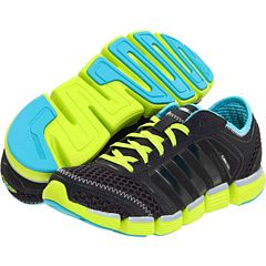 "Black & Neon Yellow ""Running Climacool® Oscillation W"" Adidas Shoe"