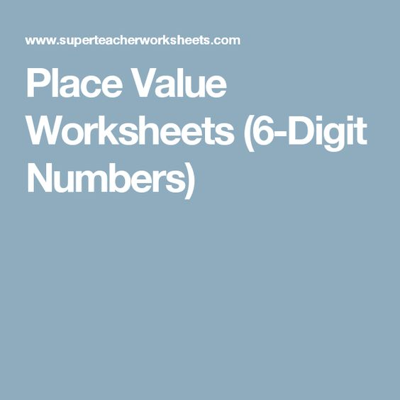 Place Value Worksheets : place value worksheets value of digit ...