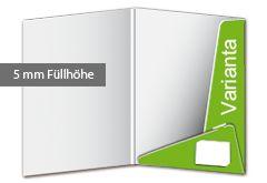 Präsentationsmappe Varianta - Füllhöhe ausreichend für ca. 10 Blatt. Varianta - die Präsentationsmappe mit abgeschrägten Laschen. Zur Stabilisierung wird die untere Lasche in die obere gehakt. Zusätzlich verfügt die Stanzform über Visitenkartenschlitze. Auf Wunsch können Sie Ihre Varianta Präsentationsmappe mit einer Abheftvorrichtung versehen. http://www.myflyer.de/Produkte/Mappen/Mappe-Varianta.html