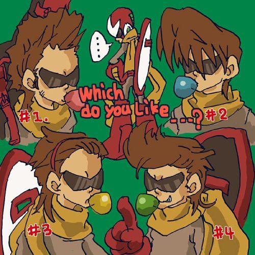 #1 I like this :) #2 が正解?