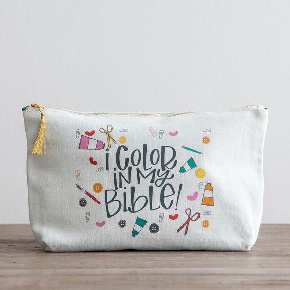 Illustrated Faith - I Color in My Bible - Canvas Pouch - Limited Edition: