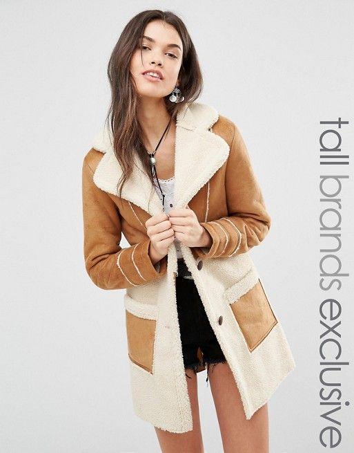Veste femme en peau de mouton retournee