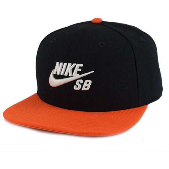 Foto principal de Boné Nike SB Icon Snapback Cap By Nike In Black - Preto/Laranja