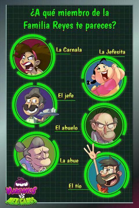 Las Familias Siempre Tienen Personajes Muy Especiales Y Los Reyes Lo Confirman A Quien De Marcianos Vs Mexicanos Te Pareces