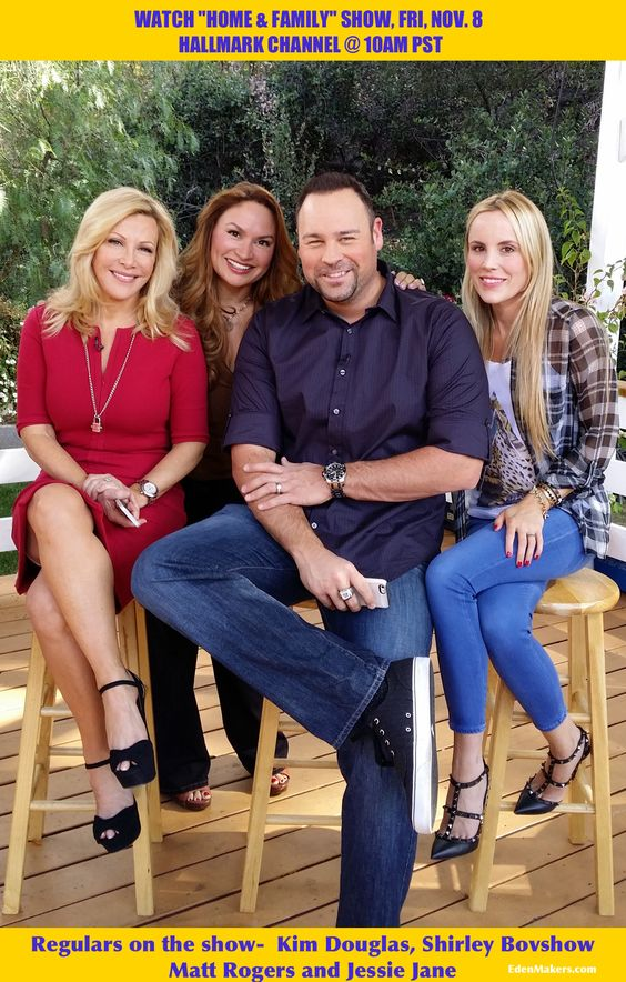 "Hanging with the Home & Family ""homies!"" Kym Douglas, Shirley Bovshow, Matt Rogers and Jessie Jane! Enjoy the show- Shirley  EdenMakers.com"